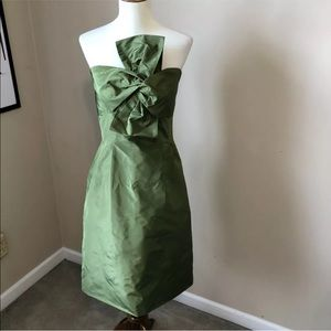 NWT J. Crew green cocktail dress silk size 8